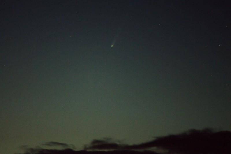 Comet Over Clouds